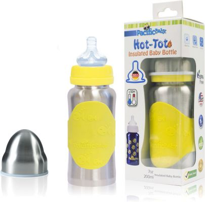 PACIFIC BABY Hot-Tot Termoska 200 ml žlutá/stříbrná