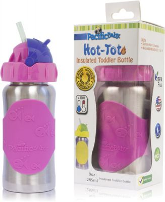 PACIFIC BABY Hot-Tot Termoska so slamkou 260 ml ružová  12f3f41af62