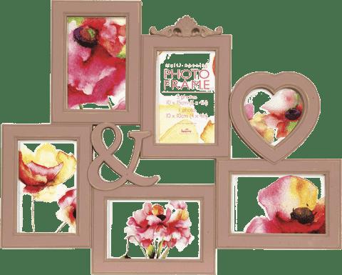 FOTORÁM ružový Maggiore XXXI pre 6 fotografií 10x15 cm