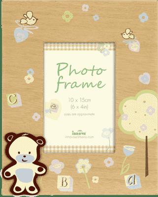 FOTORÁMIK drevený Natural Baby pre 1 fotografiu 10x15 cm