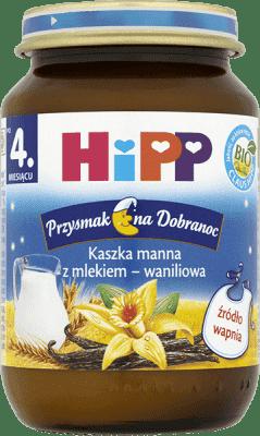 HIPP Kaszka manna z mlekiem - waniliowa BIO (190g)