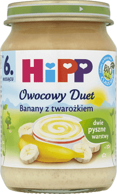 HIPP Banany z twarożkiem BIO (160g)