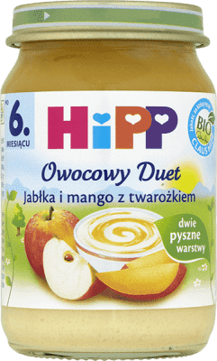HIPP Jabłka i mango z twarożkiem BIO (169g)