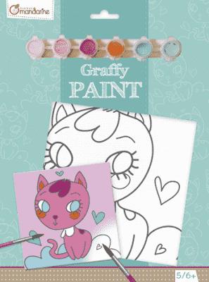 AVENUE MANDARINE Maľovanie na plátno Mačička
