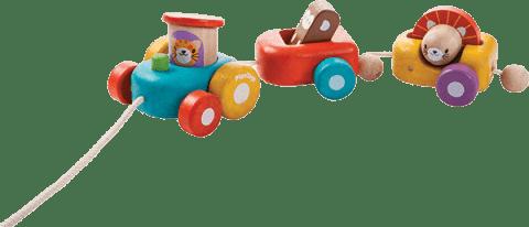 PLAN TOYS Šťastná lokomotíva