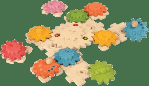 PLAN TOYS Puzzle ozubená kolečka 24 ks