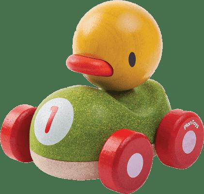 PLAN TOYS - Drewniana wyścigówka kaczka