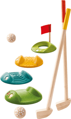 PLAN TOYS Mini golf (celá sada)