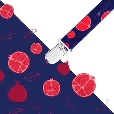 LULLALOVE Multifunkční skřipec- granátové jablko