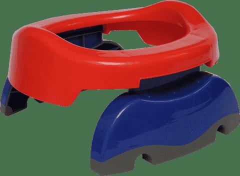 POTETTE PLUS 2w1 Składany nocnik turystyczny / Redukcja na WC – czerwony / niebieski