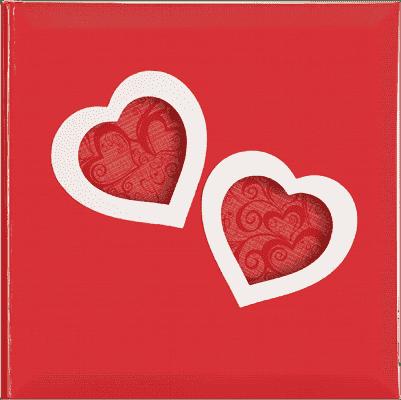 FOTOALBUM červené Love Hearts pro 200 fotografií 10x15 cm