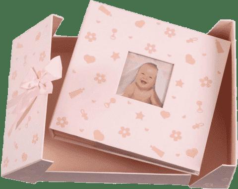 FOTOALBUM růžové Baby Nursery pro 200 fotografií 10x15 cm (dárkové balení)