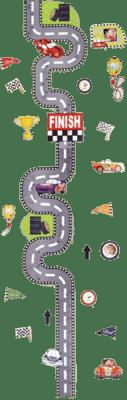 KARPEX Detský meter na stenu Cesta - samolepiaca dekorácia na stenu s 3D efektami (meter)