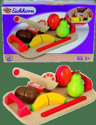 SIMBA Set Deska z warzywami do krojenia – czerwona