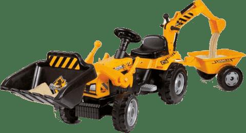 SIMBA Šliapací traktor MAX s bagrom a vozíkom