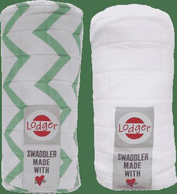 LODGER Multifunkční osuška Swaddler balení 2ks – Anise/White