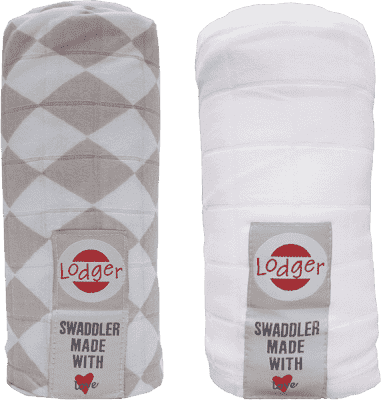 LODGER Multifunkčný osuška Swaddler balenie 2ks - Shell / White