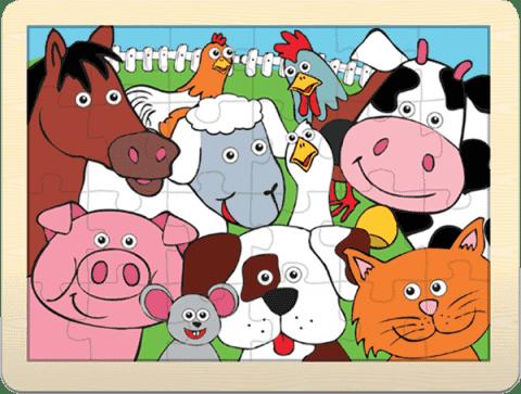 FIESTA CRAFTS Veľké puzzle - Farma