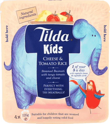 4x TILDA Dětská rýže - Sýr a rajče -125g