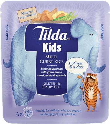 4x TILDA Dětská rýže - Sladké Curry -125g