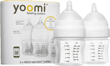 YOOMI Kojenecká láhev 2ks 140ml