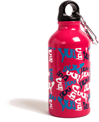 YUU Láhev na pití - růžová