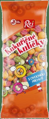 REJ Kukuričné guličky s ovocnou príchuťou