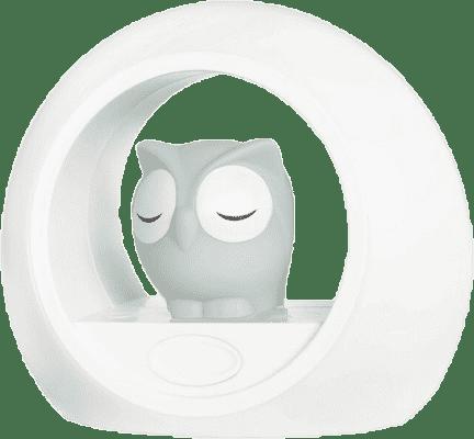 ZAZU Malá sova LOU-nočné svetlo, šedá