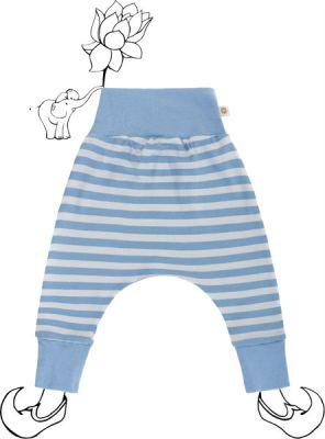 AVANI Birdy nohavice 74 - modrá s prúžkami