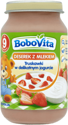 BOBOVITA Truskawki w delikatnym jogurcie (190g)