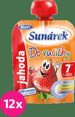 12x SUNÁREK Do ručičky jahoda 90g - ovocný príkrm