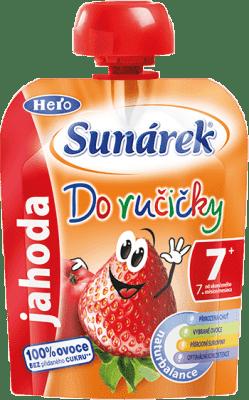 SUNÁREK Do ručičky jahoda (90 g) - ovocný príkrm
