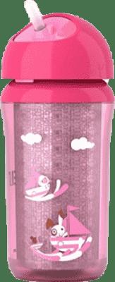 AVENT Termo hrnček so slamkou 260ml ružový