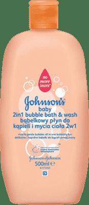 JOHNSON'S BABY Bąbelkowy płyn do kąpieli i mycia ciała 2w1 500ml