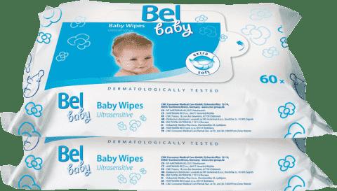 BEL BABY vlhčené obrúsky - duopack (2x 60 ks)