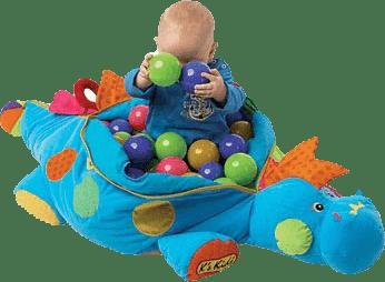 K´S KIDS Ogromny dinozaur + 60 kolorowych piłeczek - niebieski