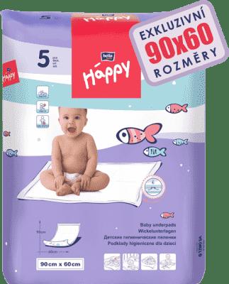 BELLA HAPPY detské prebaľovacie podložky 5ks