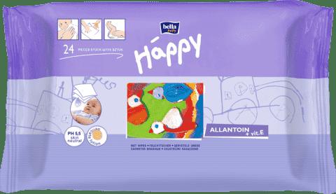 BELLA HAPPY BABY Chusteczki nawilżane z witaminą E 24 szt.