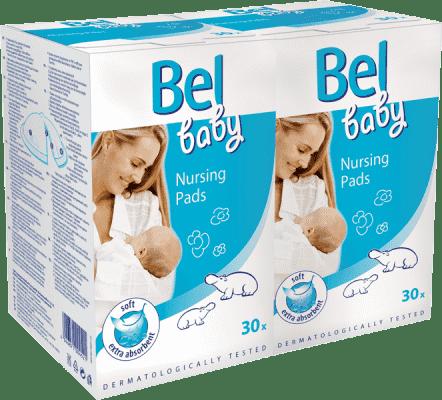 BEL BABY prsné vložky - duopack (2 x 30 ks)
