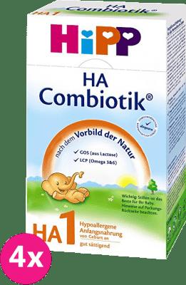 4x HiPP HA 1 Combiotic (500g) - dojčenské mlieko