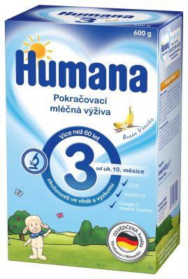HUMANA 3 banán a vanilka (600 g) - dojčenské mlieko
