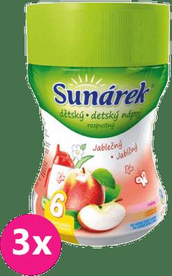 3x SUNÁREK Jablčný rozpustný nápoj (200 g)