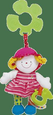 K´S KIDS Úchyt na kočík – veselá bábika Júlia