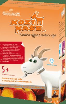 KOZIA KAŠA Kukurično-ryžová s broskyňou a tekvicou (5m+), 225 g