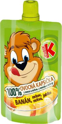 KUBÍK 100% Ovocná Kapsička banán, mrkva, jablko 100 g
