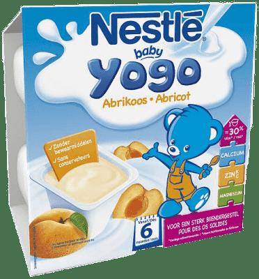 NESTLÉ Baby Yogo meruňkový příkrm (4x100 g)