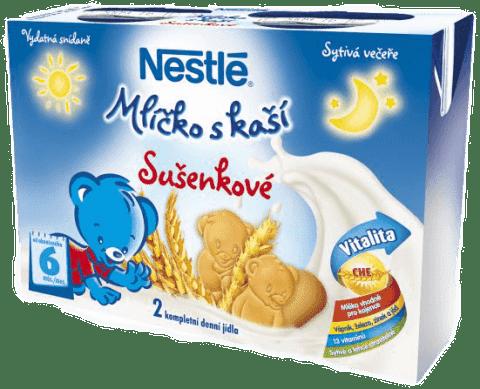 NESTLÉ Mliečko s kašou sušienkové (2x200 ml)