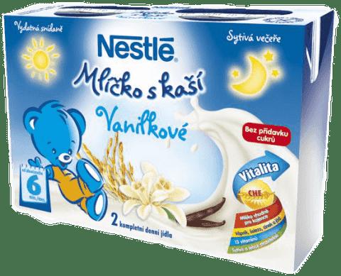NESTLÉ Mliečko s kašou vanilkové (2x200 ml)