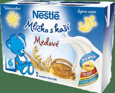NESTLÉ Mliečko s kašou medové (2x200 ml)