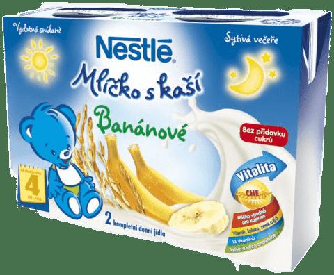 NESTLÉ Mliečko s kašou banánové (2x200 ml)